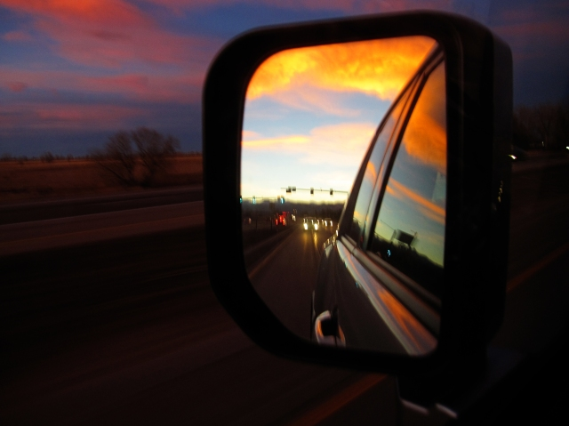 Driving in the Sunset