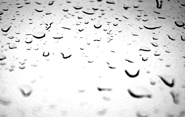 Rain Drops in Infrared