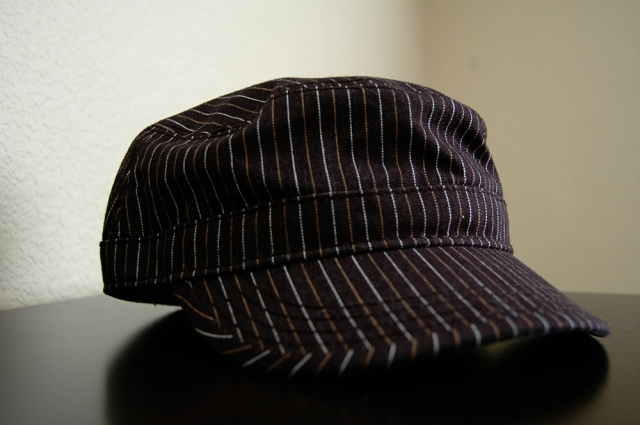 Pin-Striped Military Hat from Contraband