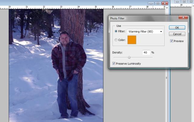 Photoshop Warming Filter